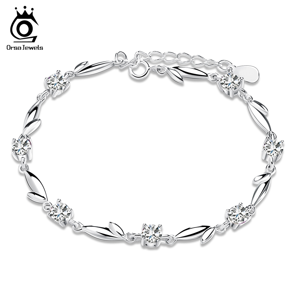 ORSA JEWELS Silver Bracelet with Shiny C