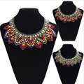 New Fashion Manual Crafts Fake Collar Exaggerated Nation Wind Pure Bead Embroidery Personality Necklace NL0144
