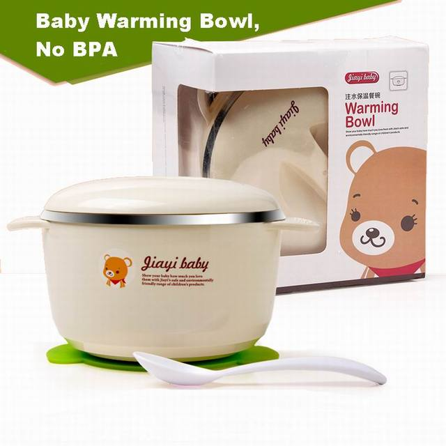 Child sucker bowl baby tableware baby stainless steel insulation type hot waterflood keep food warm bowl supplementary bowl