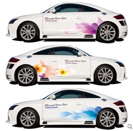 Creative fleurs toute la voiture autocollant magique couleur autocollants de voiture corps graffiti modifié tirez fleur décoratif autocollants de voiture-73