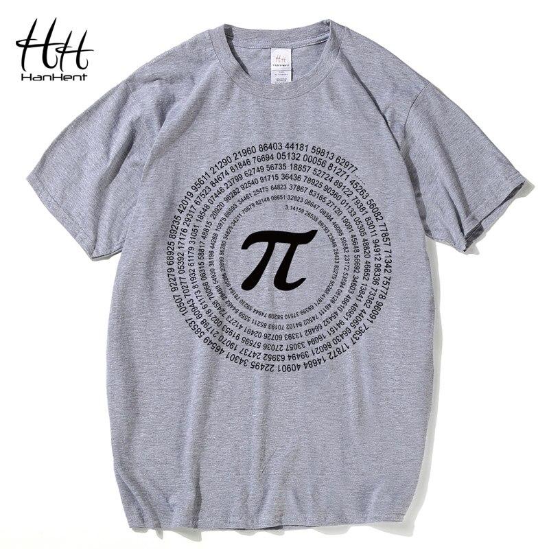 HanHent Funny Math Design Mens   T     shirts   Moon Print Custom   Shirt   Summer Tee   shirt   Homme Casual Men's Cotton   T  -  shirt   Nerd Geek