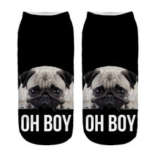 RUNNING CHICK oh boy pug 3d print funny socks wholesale(China)