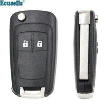 Пустая оболочка для дистанционного ключа с 2 кнопками для Opel Astra J Zafira B Insignia Adam Astra J Каскадный Карл Zafira C HU100 uncut