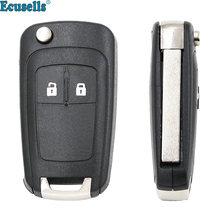 2 botões para chave remota opel, astra j zafira, b, insignia, adão, astra, j, cascata, karl, zafira c hu100 sem corte
