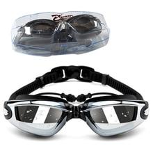 98852d1ade3 Swimming Goggles Myopia Swim Glasses Anti Fog UV waterproof Optical  prescription glasses for Men womens training