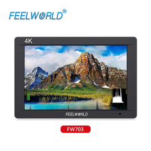 цена на FEELWORLD FW703 7 Inch DSLR On Camera Field Monitor 3G SDI 4K HDMI Input Output Video Assist Peaking Focus IPS Full HD 1920x1200