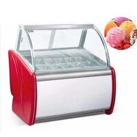 Comercial stainle aço duro ice cream freezer exibição sorvete freezer showcase