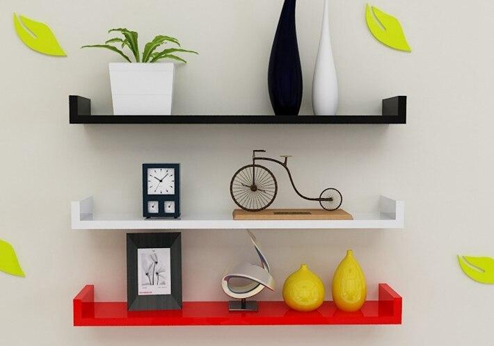 Paint U Shaped U Shaped Plate Wall Shelf Bracket
