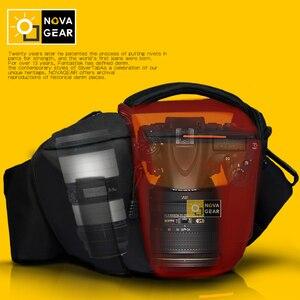 Image 2 - NOVAGEAR 80205 חדש נייד קטן נסיעות תיק מצלמה עמיד למים מזדמן כתף שקיות עבור Canon מיני מצלמה תיק עמיד הלם