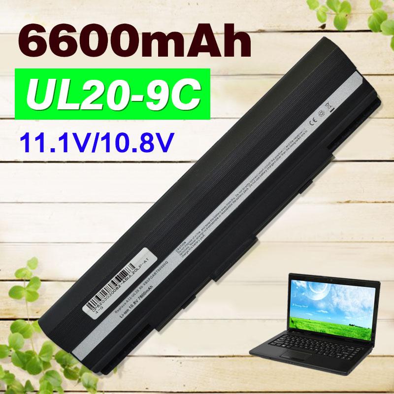 Laptop Battery for Asus A32-UL20 EEE PC 1201 1201HA 1201K 1201N 1201T 1201X 1201H UL20 UL20A UL20F UL20FT UL20G UL20GU UL20VT pitatel bt 174 аккумулятор для ноутбуков asus ul20 ul20a eee pc 1201n