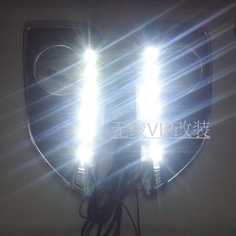Новый для Хендай ix35 2010-12 Сид DRL дневного света противотуманные лампы 6 светодиодов чип супер яркий
