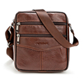 New Men Retro Soft Real Genuine Leather Men Bag Small Shoulder Travel Crossbody Bags Male messenger bag for man