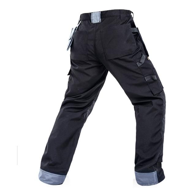 Men working pants multi-pockets wear-resistant worker mechanic cargo pants work wear trousers high quality machine repair pants 3