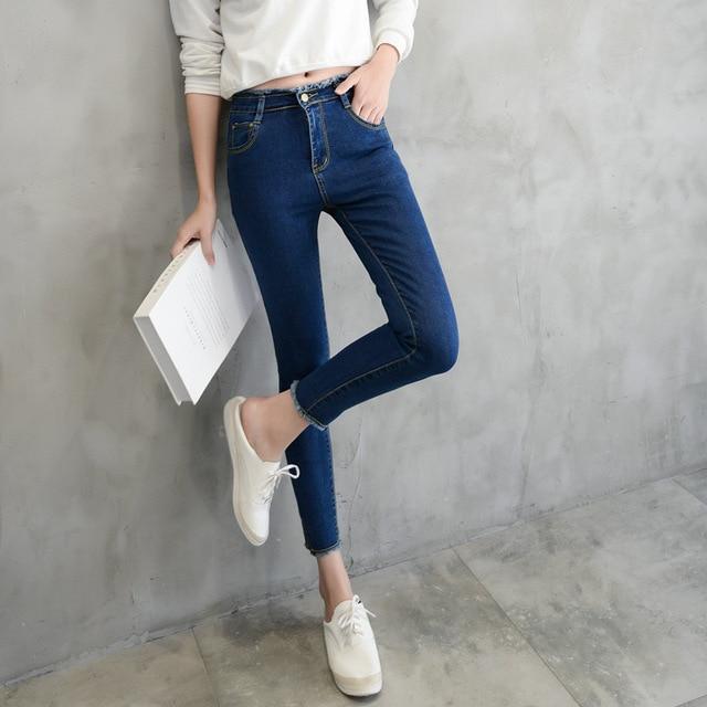 4ab159acd361 6 EXTRA LARGE Jeans Femme Printemps Nouvelle Taille Haute Jeans Femme Burr  Cheville-Longueur Pantalon