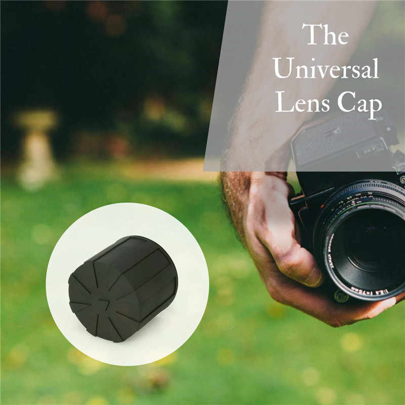 7//8 Black Silicone Universal Lens Cap Camera Lens Cap Protective Cover Case,Waterproof,Protective Scratch Proof Capdustproof Fits Most Digital Single Lens Camera Lenses for GoPro Hero 5//6