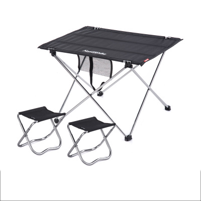 Combination Packages NH15Z012 S6 FISHING Chair Table Black Small 2 Camp  Chair Outdoor Folding Table