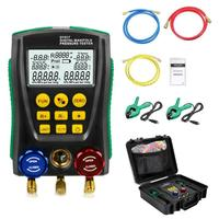 DY517A Pressure Gauge Refrigeration Digital Vacuum Pressure Manifold Tester Meter HVAC Temperature Tester Valve Tool Kit Hot