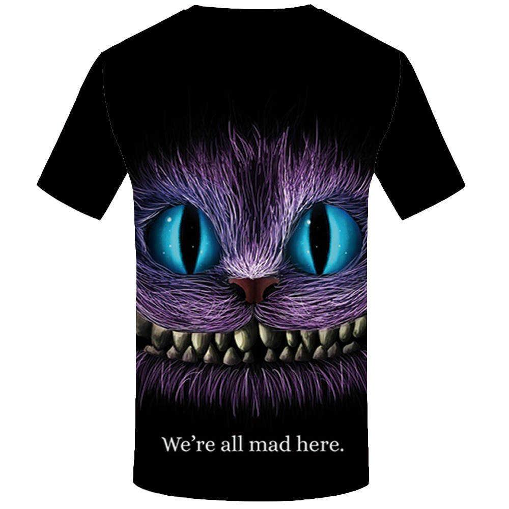 KYKU брендовая футболка с котом женская футболка с животными футболка с 3d принтом Забавные футболки Аниме Женская одежда лето 2018 Новые Топы