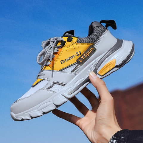 Running Sports Shoes for Men adults Comfortable trainers Outdoors spring Athletic Fitness Jogging Increased bottom sneakers Karachi