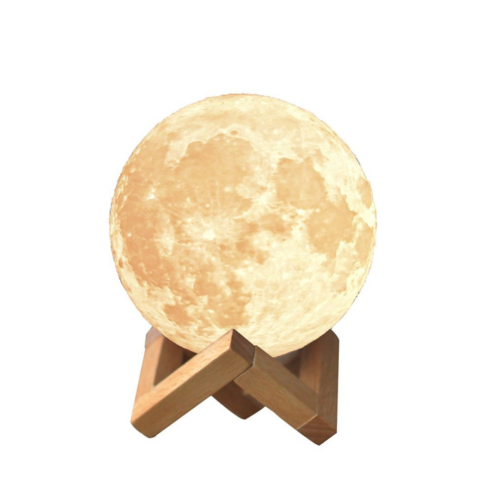 Creative 3D Print Moon Lamp with Touch-Sensing Switch 3D Lunar Lamp Color Changeable Night Lights For Decoration IY303106-P new in stock ve j62 iy vi j62 iy