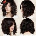 Завод 6а виргинский бразильский волнистые волосы боб парик боб парики 12 дюйм(ов) полный и фронта человеческих волос боб