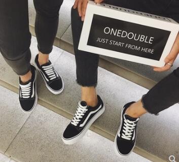 1 Junta Calle Zapatos Versátil Los De 2018 Estudiantes Para Planos Negro Acariciando Lona Harajuku Las Ocio La Mujeres Pareja 0ZBggUqw