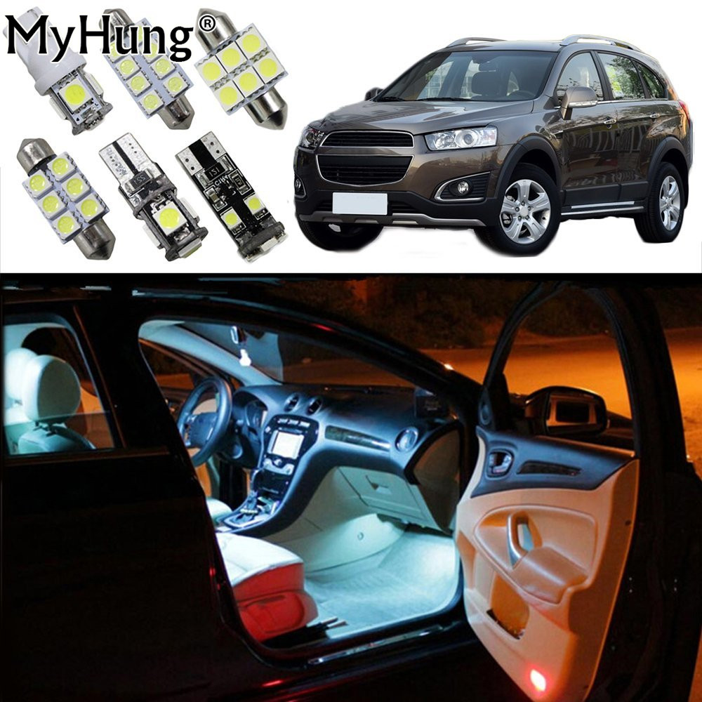 Car Led Light For Chevrolet Captiva VOLT Cruze Malibu Interior Replacement Bulbs Dome Map Lamp Light Bright White 6 PCS chevrolet captiva fl в москве