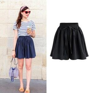 Image 4 - Summer Women Shorts High Waist Loose Chiffon Shorts Plus Size 6XL Female Slacks Large Size Shorts 8001