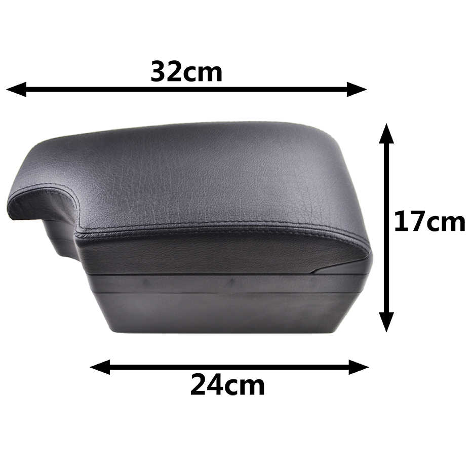 Modification Armrest For Chevrolet Sonic Aveo 2012 - 2018 Central Content  Black Leather 2013 2014 2015 2016 2017