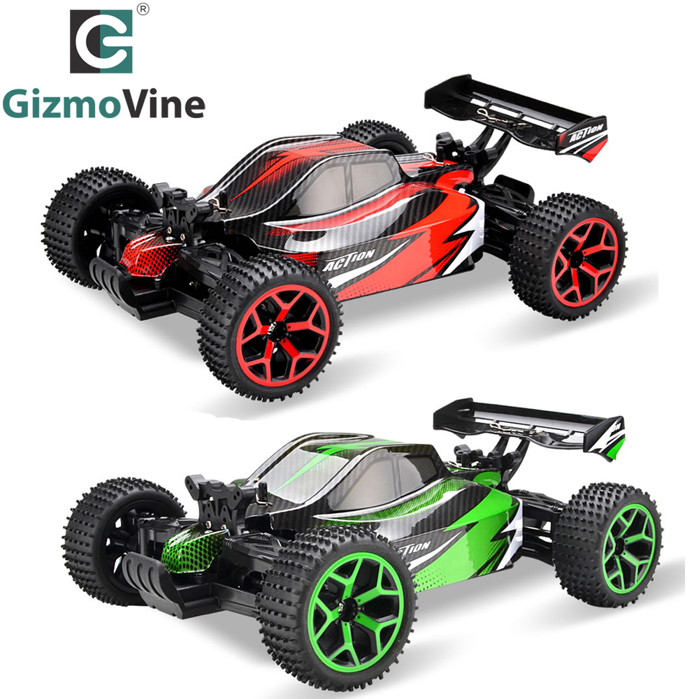 GizmoVine RC Car High Speed 20KM/H Cars 1:18 Scal RC Toy 2.4G 4CH 4WD Rock Crawlers Double Motors Drive Buggy Remote Control Car