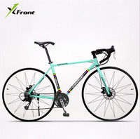 New Brand Retro 27 Speed Racing Bike 700C 52cm Bike Aluminum Alloy Frame Bend Bicycle Pedal