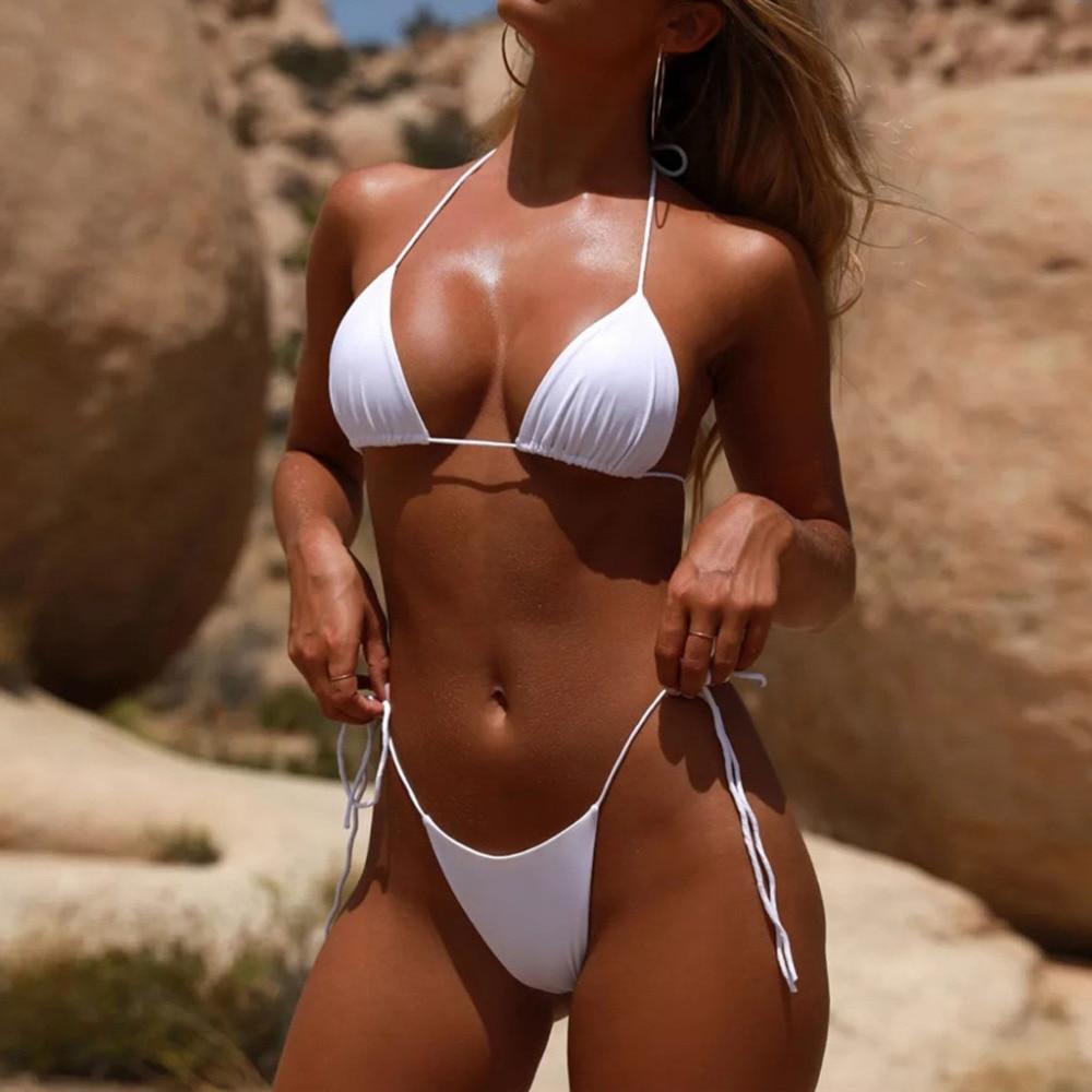 Summer Womens Push-up Bandage Bikini Set Padded Swimwear Beach Bathing Suit UK
