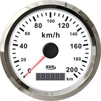 KUS Genuine GPS Speedometer Speedometer Vehicle Instrument 200km/h Black / White Antenna