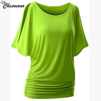 Sport Top For Women S T Shirt Plug Size Loose Casual Simple Cut Out Off Shoulder