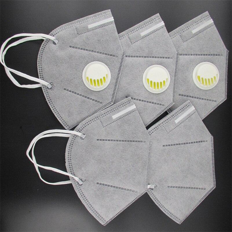 10Pcs/Lot Disposable Carbonarius Valved Dust Activated Carbon Mask PM2.5 Anti-Fog Haze Respirator Mask With Valve