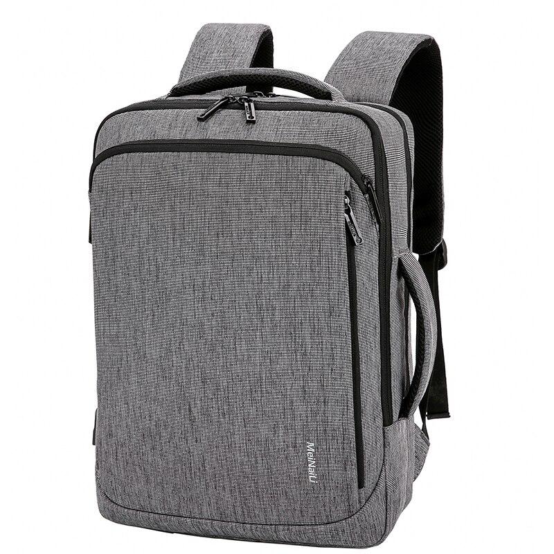 Hommes sac à dos pour ordinateur portable oxford USB charge 15.6 pouces mâle noir affaires sacs étanche multifonctionnel voyage sac à dos pour hommes - 3