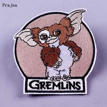 Prajna Cartoon Animals Patch DIY Badge Ironing Patches for Clothing Embroidered on Clothes Gremlins Larva Cute Stickers F