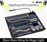 Con il caso di volo King Kong 1024 DMX Illuminazione Console Luci del Palcoscenico Professionale Perla Avolite Controller DJ Attrezzature Discoteca