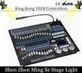 With flight case King Kong 1024 DMX Lighting Consoles Professional Stage Lights Pearl Avolite Controllers DJ Disco Equipment