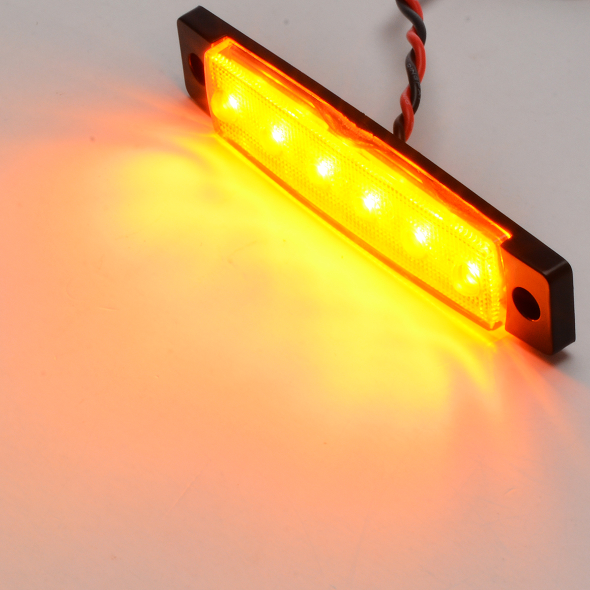 10x Yellow LED 12V 6LED Auto Car Bus Truck Side Marker Indicator Trailer Light Rear Side Lamp Car External Lights