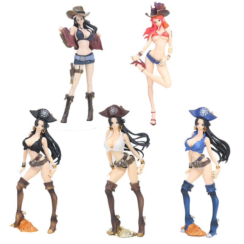 Action & Toy Figures Anime One Piece Figure Toys Boa Hancock Nami Figure Toy Flag Diamond Ship Hancock Pirate Girl Beauty Model Figurine