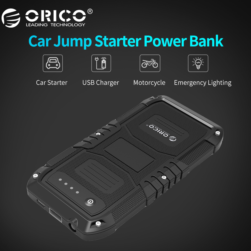 ORICO CS1 Multi Function Car Emergency Battery Charger Mini Portable Mobile Power Bank 4000mAh Booster Starting