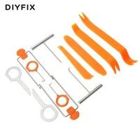 DIYFIX 12Pcs Car Repair Tool Set Plastic Car Radio Door Clip Panel Trim Dash Roof Audio