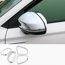 Automobile Auto Chromium Body Window Grille Exterior Fashion Mouldings Parts Protecter Accessories 18 19 FOR Volkswagen Tharu modified decorative chromium body window grille exterior dashing mouldings sticker strip protecter 18 19 for volkswagen t roc