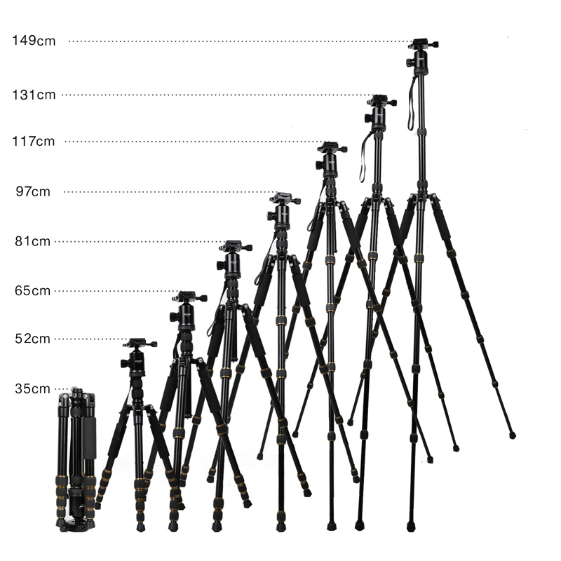 ZOMEI Z699 Travel Camera Tripod Magnesium Aluminum Alloy Monopod 360 degree Ball Head -4