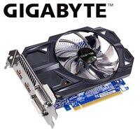 Gigabyte karta graficzna gtx 750 ti karta graficzna z 2GB GDDR5 128 Bit karta graficzna NVIDIA GeForce GTX 750 Ti GPU GV N75TD5 2GI dla pc używane karty w Karty graficzne od Komputer i biuro na