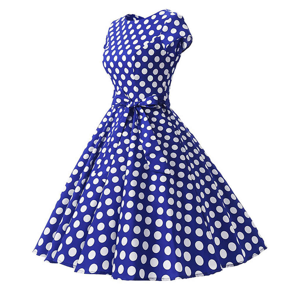 Sisjuly משרד ליידי עבודה 1950 s 60 s רטרו שמלות נשים המפלגה שחור לבן כחול אדום מנוקדת קשת Blet תה רוקבילי שמלה