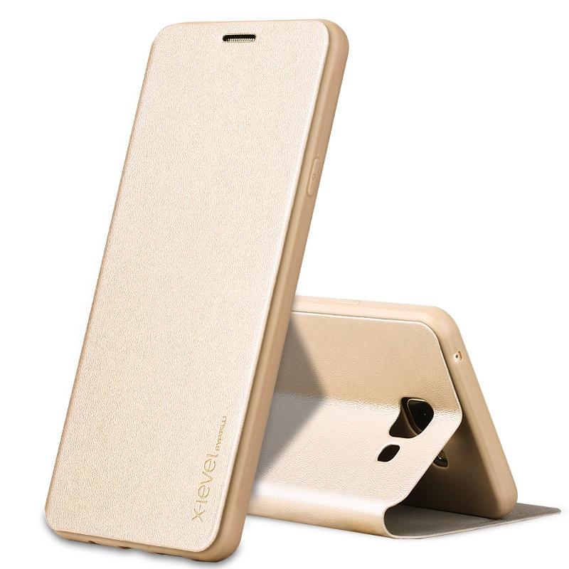 Skórzane etui z klapką X-Level Book do Samsung Galaxy A5 2016 A510 - Części i akcesoria do telefonów komórkowych i smartfonów - Zdjęcie 3