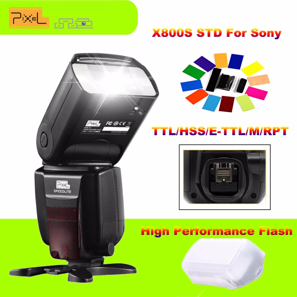 Pixel X800S X800 Standard GN60 2.4G 1/8000S Wireless TTL HSS Flash Speedlite For Sony A7 A7S A7R A6000 A6300 VS YN560III YN560IV pixel x800s standard gn60 hss ttl flash speedlite 2pcs king pro 2 4g flash trigger transceivers for sony a7 a7s a7r a7rii