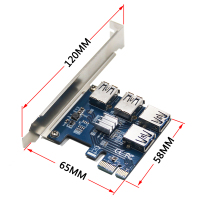 Riser Card PCI E USB 3 0 PCIe Port Multiplier Card PCI Express PCIe 1 To
